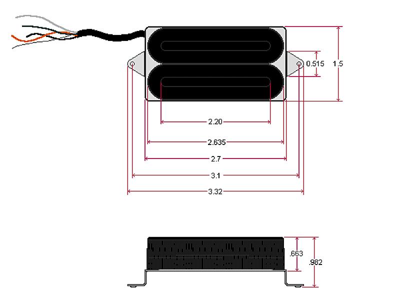 DIMARZIO DP102FBK X2N ( F-Spaced, BK)