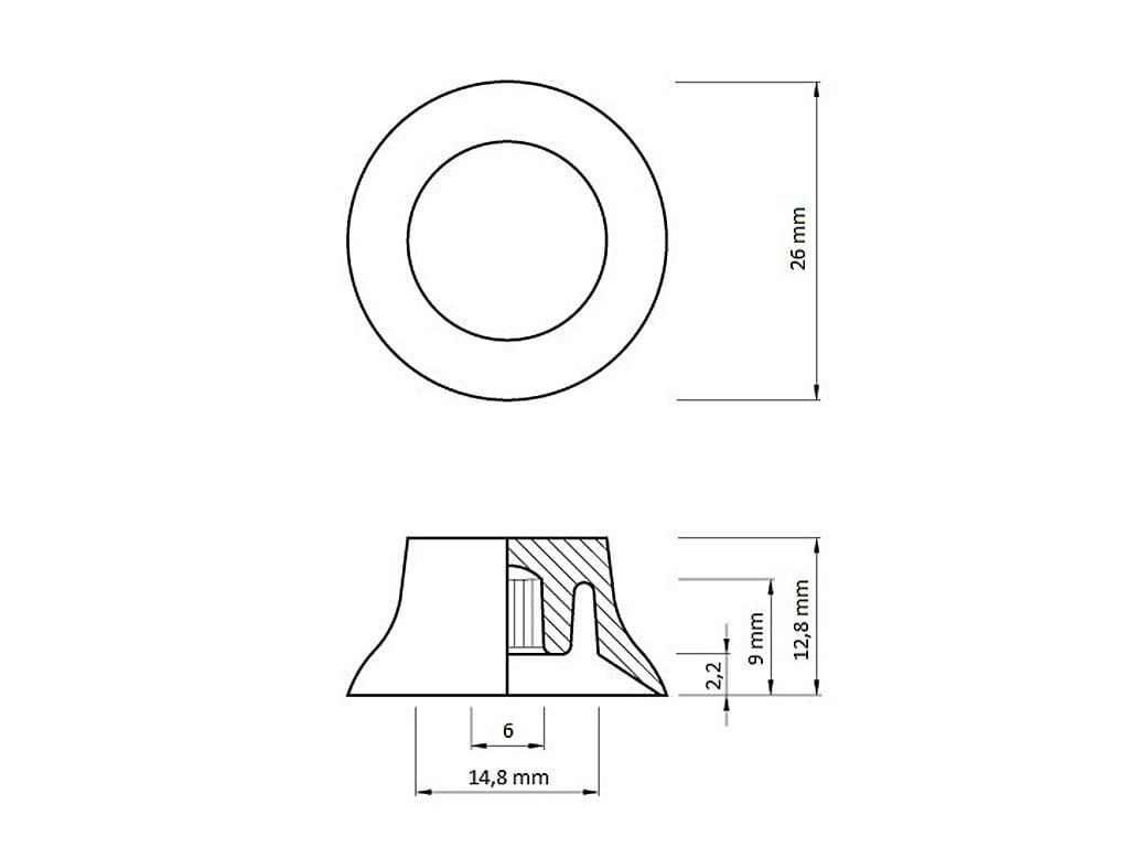 Vparts Kb 02 Bell Knob Gd Guitar Parts Center Diagram Of Spec