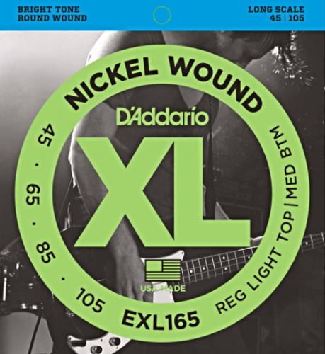 D'ADDARIO XL Nickel Wound EXL165 (45-105)