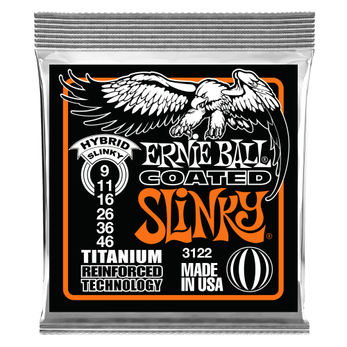 ERNIE BALL EB 3122 Coated Titanium strings (9-46)