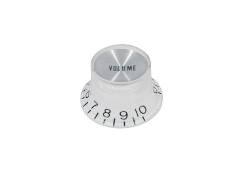 BOSTON KW-130-V Top Hat Reflector guitar knob (WH)