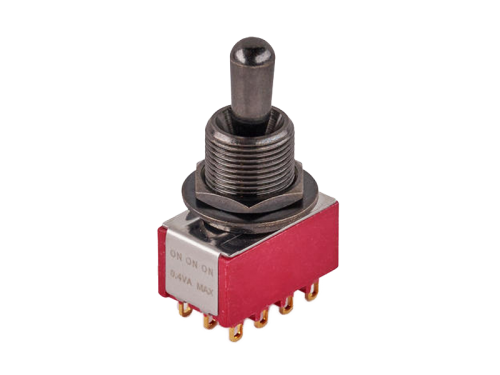 MEC 80019 4PDT on-on-on maxi toggle switch (BK)