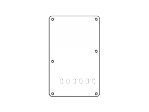 BOSTON BP-313 ST-style Backplate (WH)