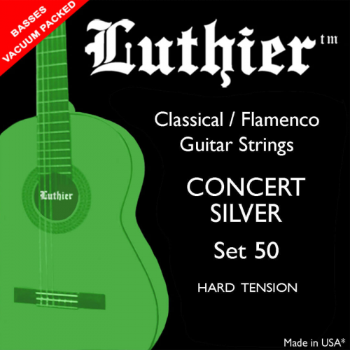 LUTHIER SET#50 Concert Silver hard tension strings