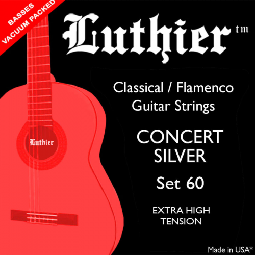 LUTHIER SET#60 Concert Silver extra high tension strings