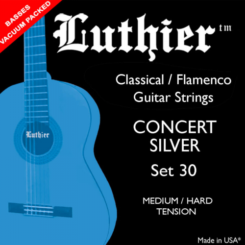 LUTHIER SET#30 Concert White Silver medium/hard tension strings