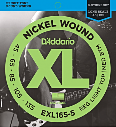 D'ADDARIO XL Nickel EXL165-5 (45-135) 5string