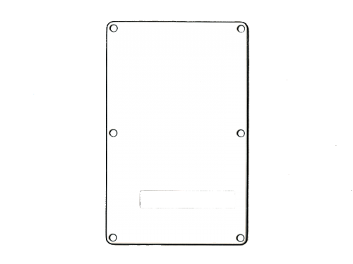 VPARTS PB-S2 ST-style Backplate  (WH)