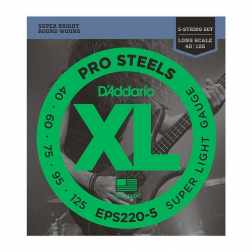D'ADDARIO ProSteels EPS220-5 (40-125) 5str.