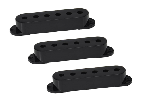 BOSTON SPC-62 Single-Coil Pickup Cover Set (BK, 52mm)