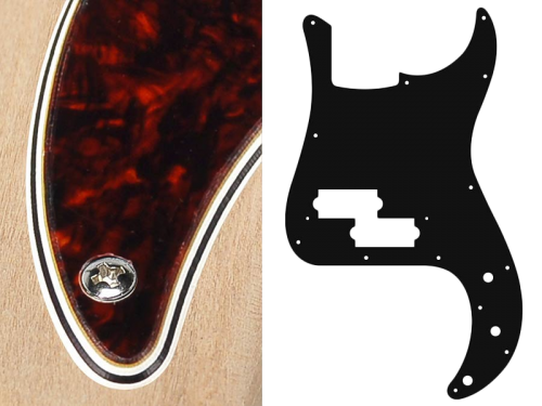 BOSTON Vintage Precision Bass Pickguard, 4-ply (tortoise int)