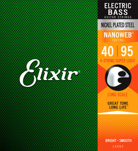 ELIXIR NanoWeb Nickel Plated bass strings (40-95)