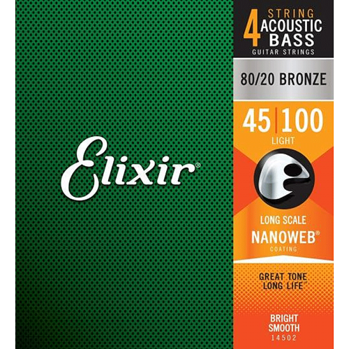 ELIXIR NanoWeb 80/20 Bronze Bass strings (45-100)