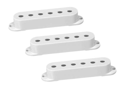 BOSTON SPC-62 Single-Coil Pickup Cover Set (WH, 52mm)