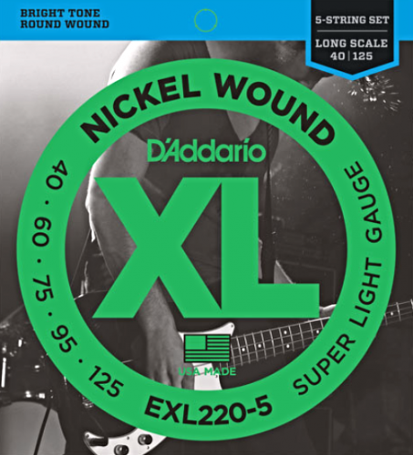 D'ADDARIO XL Nickel EXL220-5 (40-125) 5string