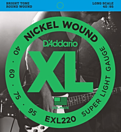 D'ADDARIO XL Nickel Wound EXL220 (40-95)